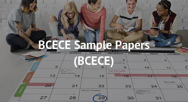 BCECE Sample Papers 2018