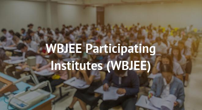 WBJEE Participating Institutes 2018