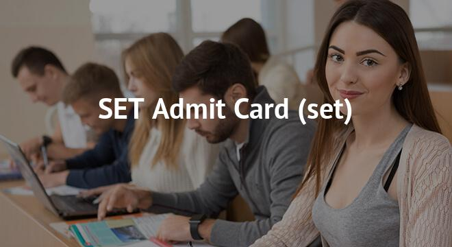 SET Admit Card 2018