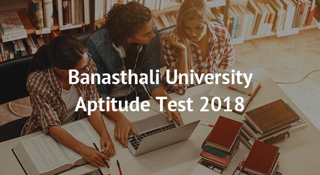 Banasthali University Aptitude Test 2018