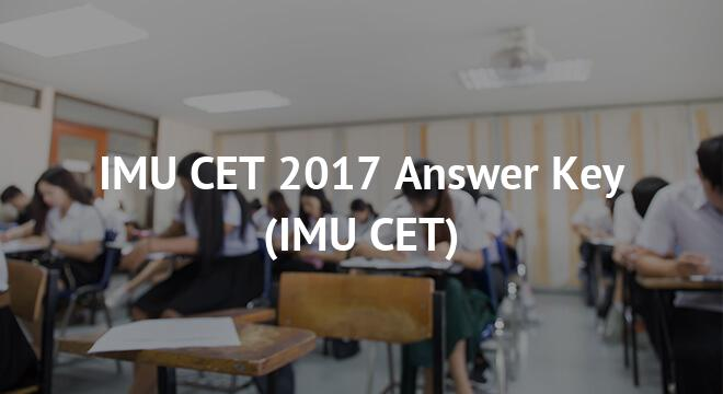 IMU CET 2017 Answer Key
