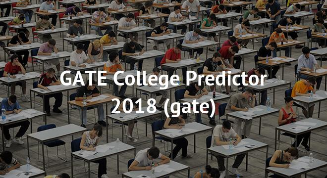 GATE College Predictor 2018