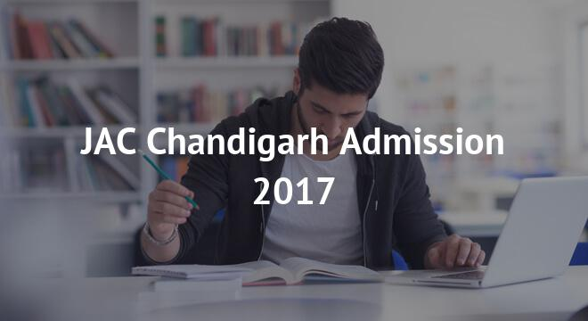 JAC Chandigarh Admission 2017