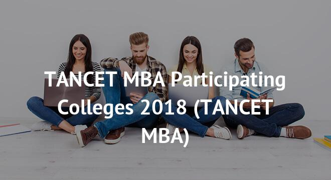 TANCET MBA Participating Colleges 2018