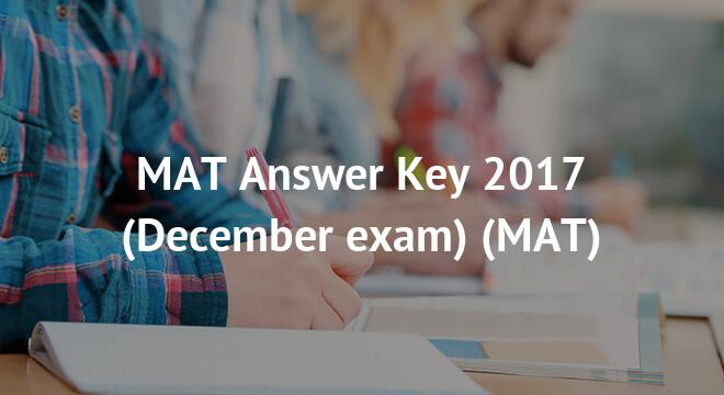 MAT Answer Key 2018 (February exam)