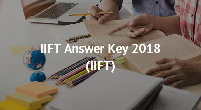IIFT Answer Key 2018