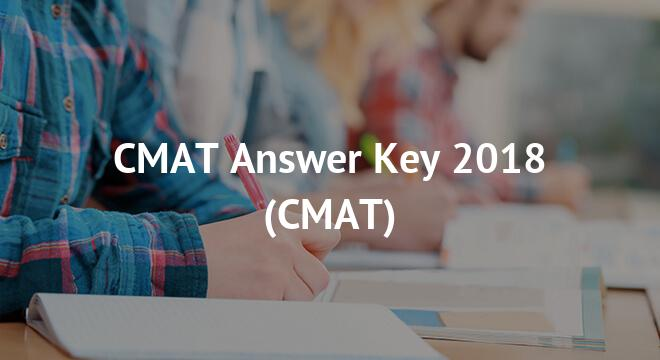CMAT Answer Key 2018