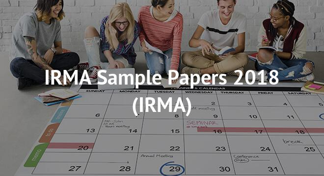 IRMA Sample Papers 2018