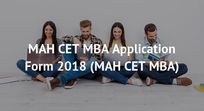 MAH CET MBA Application Form 2018
