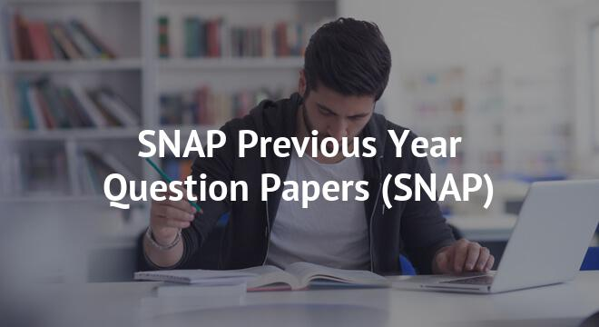 SNAP Previous Year Question Papers