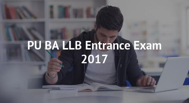 PU BA LLB Entrance Exam 2017