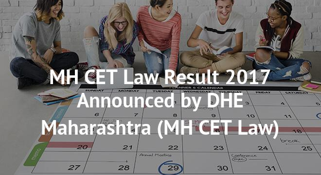 MH CET Law Result 2017 Announced by DHE Maharashtra