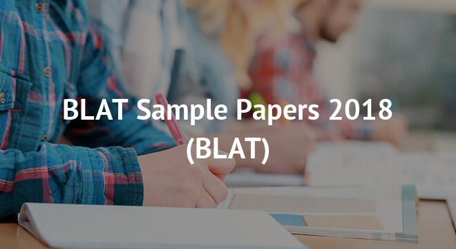 BLAT Sample Papers 2018