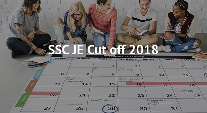 SSC JE Cut off 2018