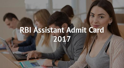 RBI Assistant Admit Card 2017