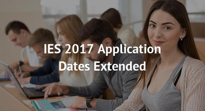 IES 2017 Application Dates Extended