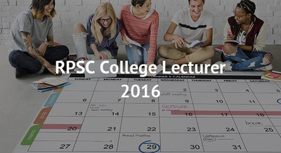 RPSC College Lecturer 2016