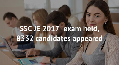 SSC JE 2017  exam held, 8332 candidates appeared