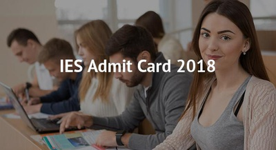 IES Admit Card 2018