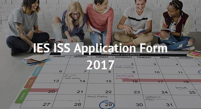 IES ISS Application Form 2017