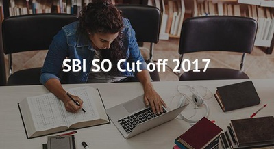 SBI SO Cut off 2017