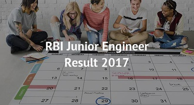 RBI Junior Engineer Result 2017