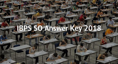 IBPS SO Answer Key 2018