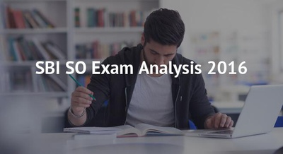 SBI SO Exam Analysis 2016