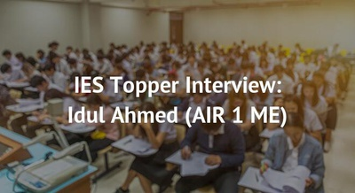 IES Topper Interview: Idul Ahmed (AIR 1 ME)