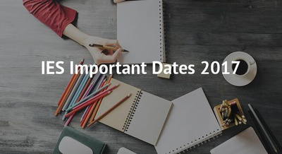 IES Important Dates 2017