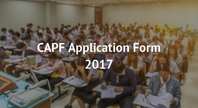 CAPF Application Form 2017